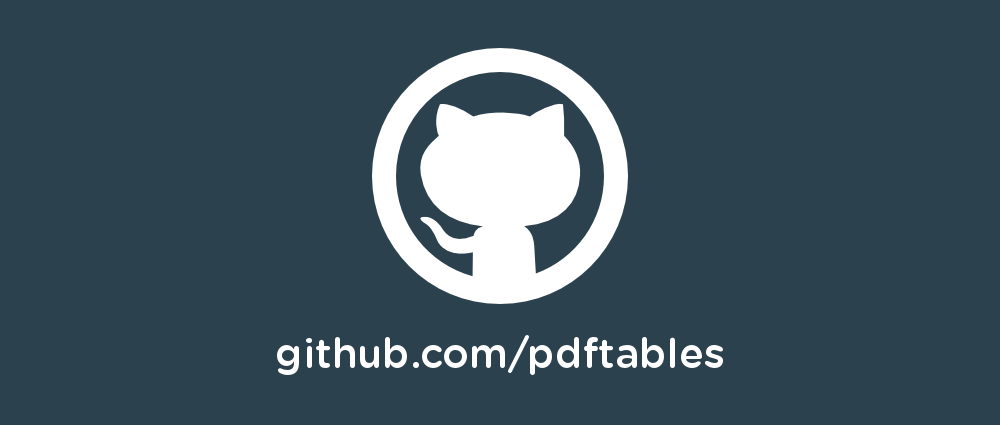 PDF to Excel libraries on GitHub