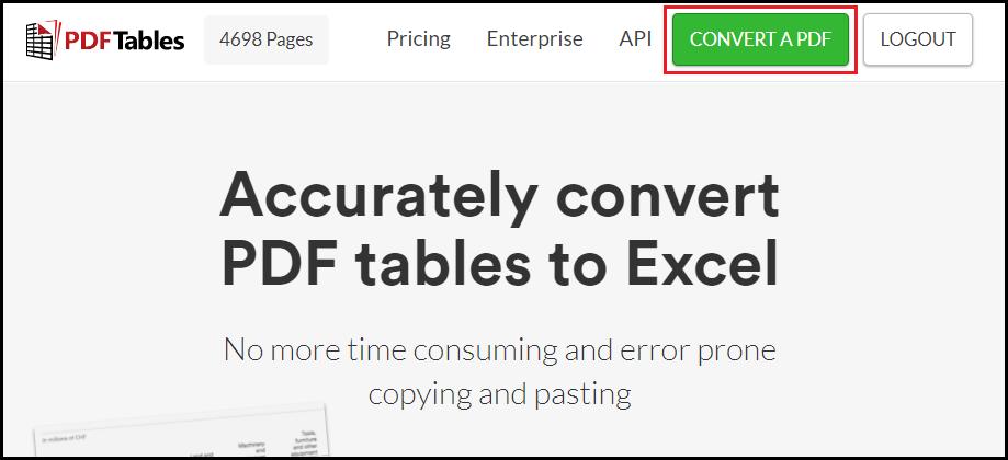 Convert PDF to CSV Online — PDFTables
