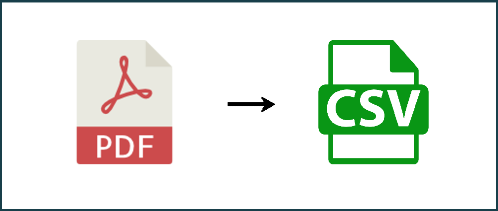 How to convert a PDF to CSV