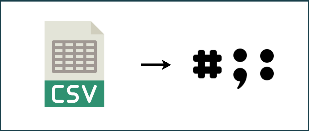How to change the delimiter in a CSV file