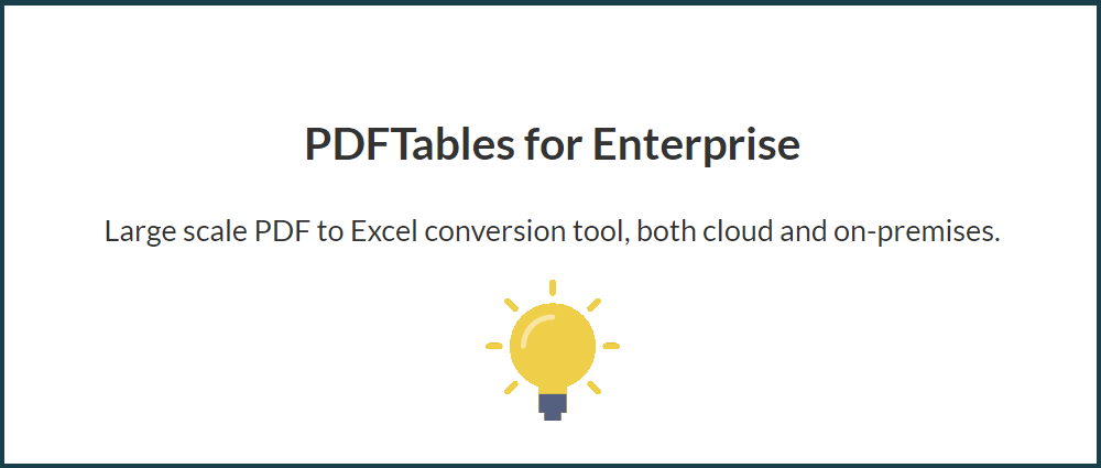 PDFTables release a more flexible Enterprise solution to help businesses in their digital transformation