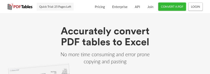 Convert PDF to Excel Online for Free — PDFTables